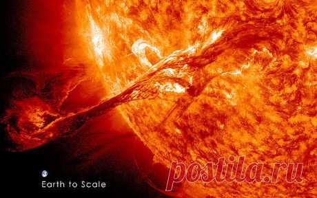 Это наше солнышко, какая сила.