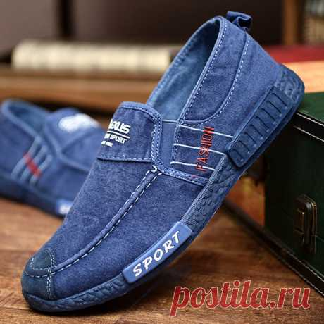 Men Washed Canvas Comfy Soft Sole Slip On Casual Shoes Your friend shared a fashion website for you and give you up to 20% off coupons! Claim it now.