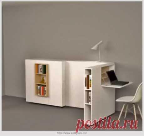 Уникальная мебель-трансформер для маленького домашнего офиса | Идеи домашнего мастера