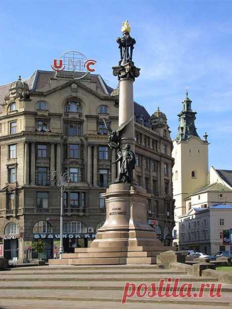 Lviv-Monument_to_AdamMickiewicz-2a.jpg (960×1280)  |  Pinterest • Всемирный каталог идей
