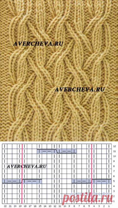 Узор спицами 939 | каталог вязаных спицами узоров