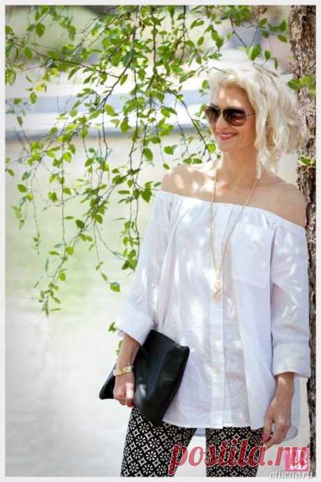DIY: Блуза со спущенными плечами из рубашки — Отлично! Школа моды, декора и актуального рукоделия