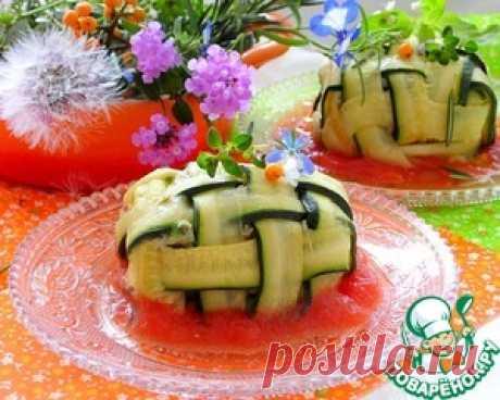 El filete de pez en el saco del calabacín - la receta de cocina