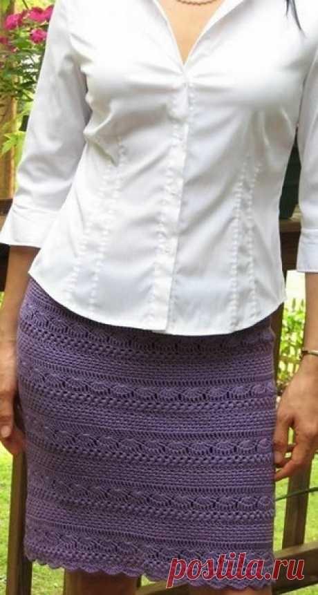 Вяжем узорную юбку