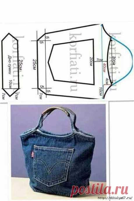 Переделки: Джинсовые сумки — Рукоделие