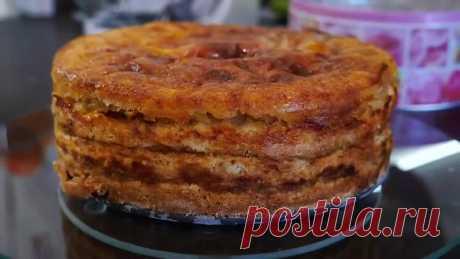Простейший Яблочный Пирог ТРИ СТАКАНА Изумительно Вкусный