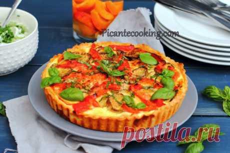 Овочевий тарт з сиром Фета | Picantecooking
