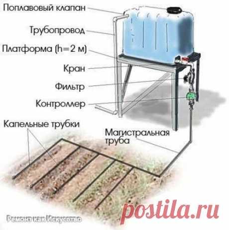 Как сделать простейший капельный полив из бочки? | Все о ремонте