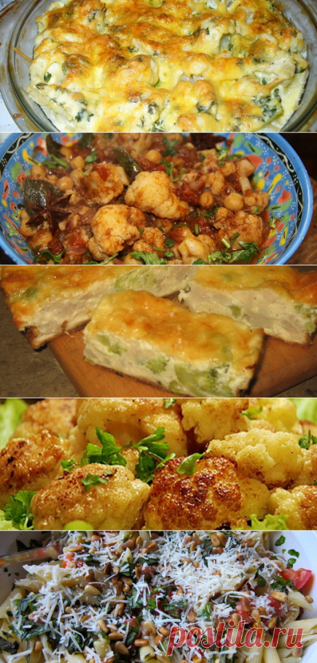 Recipes of dishes from a cauliflower: what to prepare, cream soup go baked, pie or in batter