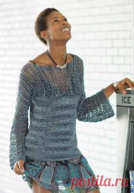 Модели пуловеров, джемперов и свитеров спицами - страница 17