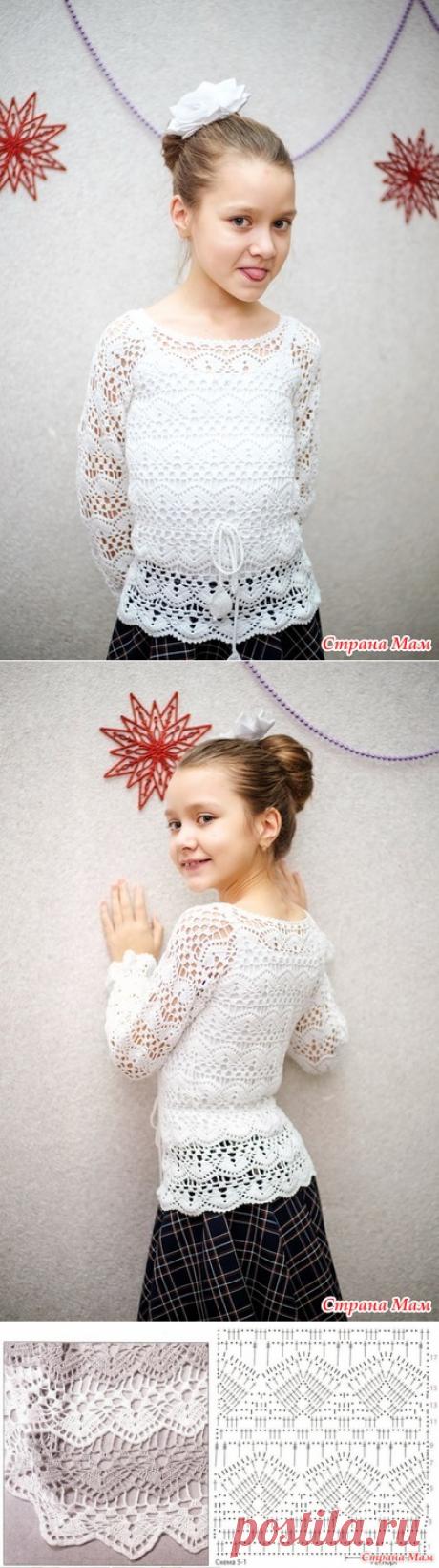 . Школьная блузка крючком - Вязание - Страна Мам