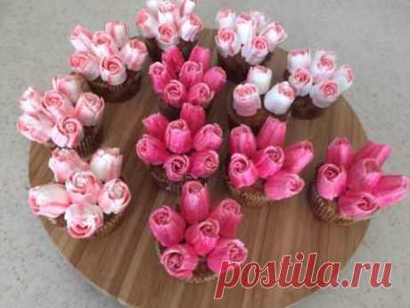 DIY Russian nozzles. Cupcake decoration
