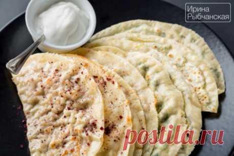 Рецепт кутабов с зеленью и сыром по-азербайджански