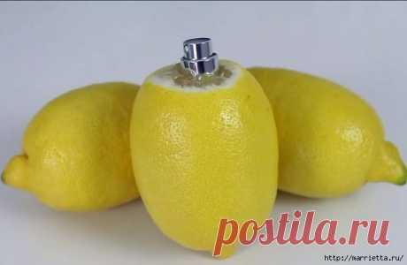 Lemon spray the hands