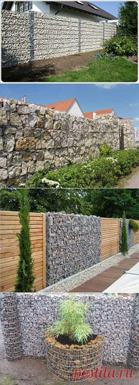 Забор из габионов на даче | Дача - впрок