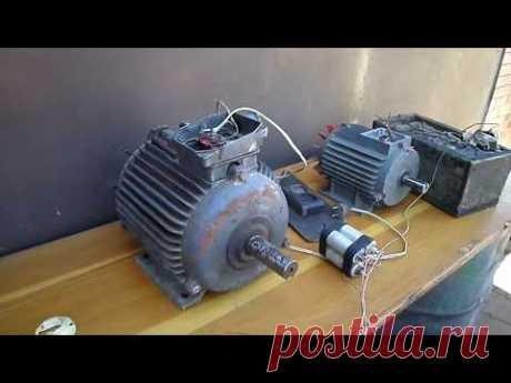 Подключение двигателя 380 в 220 вольт.