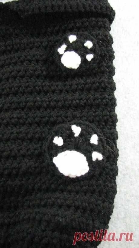 Black Cat Baby Cocoon Crochet Pattern Digital Download | Etsy