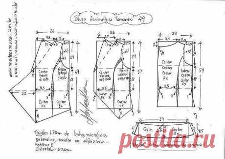 Выкройка летней блузки (Шитье и крой)   Журнал Вдохновение Рукодельницы