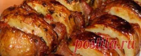 Шашлык с беконом и картофелем | Кулинарный портал