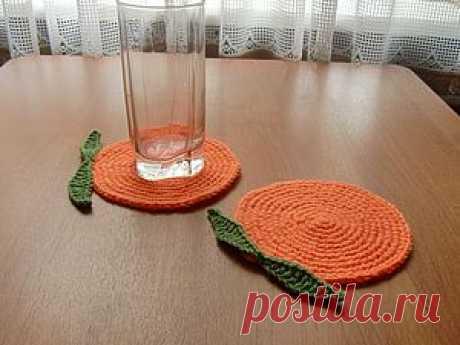Подставки под стаканы 'Апельсинки'