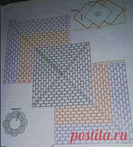 пэчворк крючком схемы квадратов для пуловера из японских схем: 9 тыс изображений найдено в Яндекс.Картинках