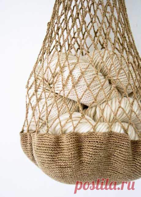 Авоська из джута крючком – 6 схем с описанием вязания и МК на видео