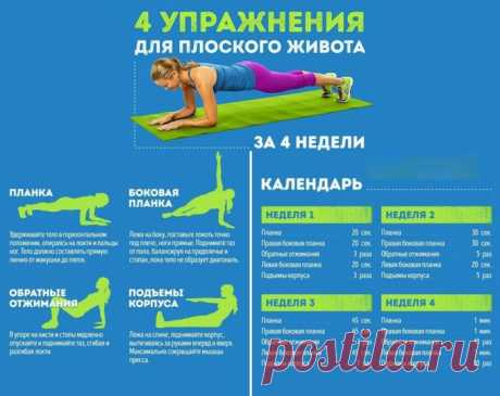 4 exercises for a flat stomach