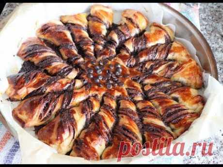 Безумно вкусная Турецкая выпечка с начинкой/Burgu Çörek Tarifi