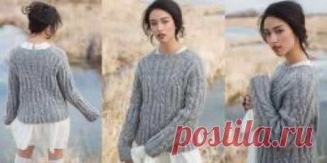 Пуловер из толстой пряжи Klondike - Вяжи.ру