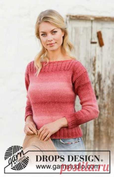 Джемпер Малиновый взрыв Супер простая в работе модель женского свитера, связанного из разноцветной пряжи на спицах 6 мм. Вязание деталей переда и спинки...
