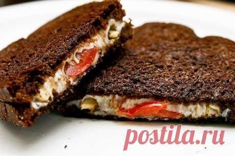 Утреннее, лёгкое, интересное… Бутерброд по-итальянски — Готовим дома