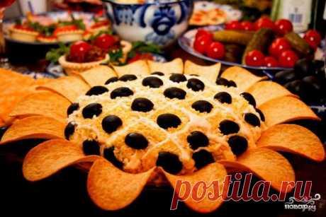 Салат Подсолнух - пошаговый рецепт с фото на Повар.ру