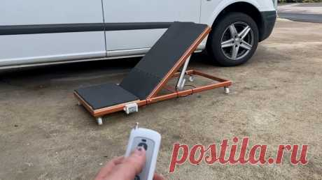 Подъемная платформа для ремонта автомобиля Приветствую всех любителей помастерить, предлагаю к рассмотрению инструкцию по изготовлению полезной самоделки для обслуживания автомобиля. Речь пойдет о платформе, на которой можно сидеть или лежать, ремонтируя автомобиль. Часть платформы поднимается, что позволит вам принять нужное положение в