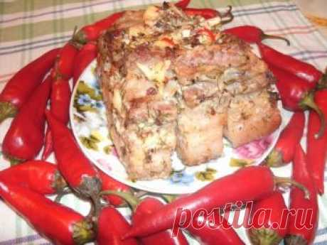 Грудинка запеченная в фольге рецепт с фото пошагово - 1000.menu