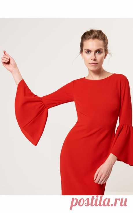 Моделирование платьев с оригинальными расклешенными рукавами — DIYIdeas