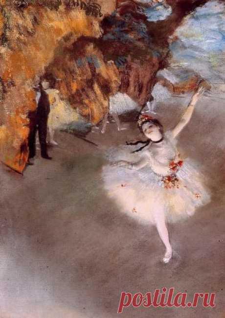 Edgar Degas, The Dancer on Stage, 1876-77, Pastel