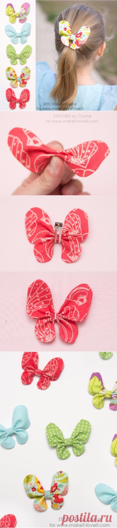 Бабочки из ткани от Make It & Love It. Мастер-класс