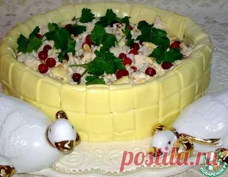 Лукошко с салатом – кулинарный рецепт