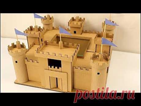 como hacer un castillo de cartón paso a paso ( CASTILLO BODIAM) cardboard castle