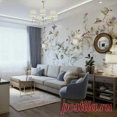 Уютный, красивый интерьер в прованском стиле. Серый с голубым - идеальный дуэт в элегантной квартире 53 кв.м. | DECOrry | Яндекс Дзен