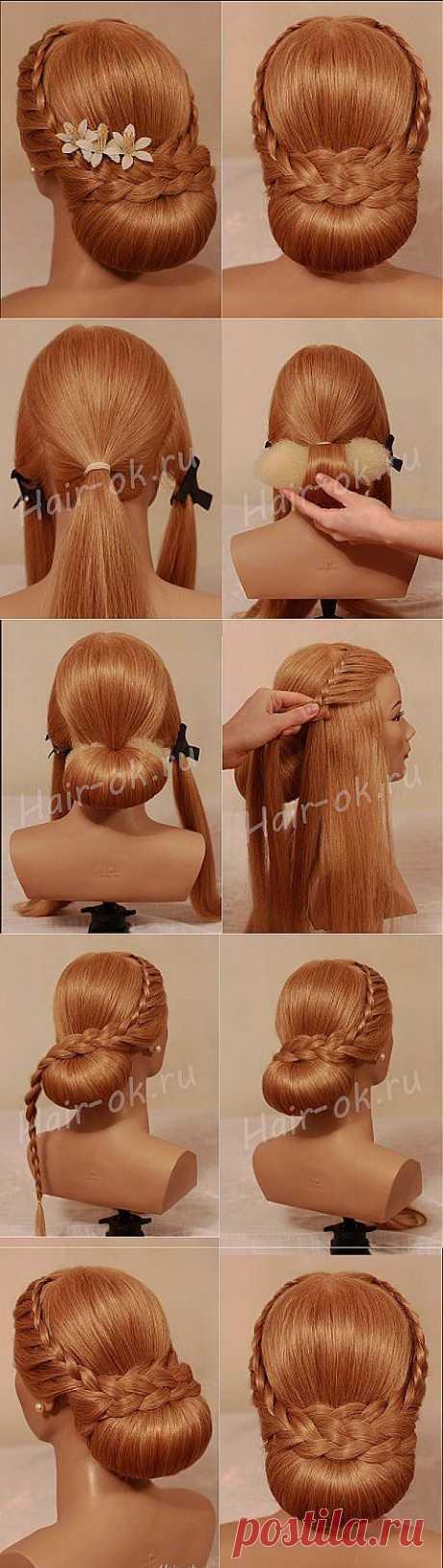 Красивая прическа с косами своими руками | Варварушка-Рукодельница