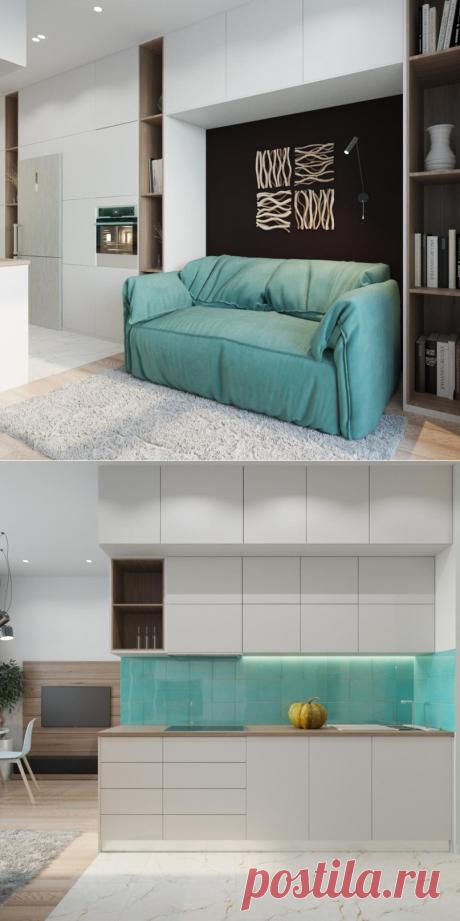 Проект квартиры-студии в 33 кв.м. - Дизайн интерьеров   Идеи вашего дома   Lodgers