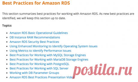 Best Practices for Amazon RDS - Amazon Relational Database Service