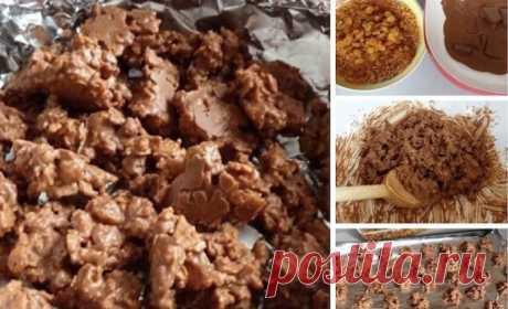 Проще простого: Как за 10 минут приготовить вкусный десерт.    Детям разрешаю есть по 4 штучки за раз!          Шоколадные хрустелки с изюмом. Ингредиенты: ●150 г молочного шоколада ( например Milka)●50 г кукурузных хлопьев●60 г изюма  Приготовление: Шоколадк…