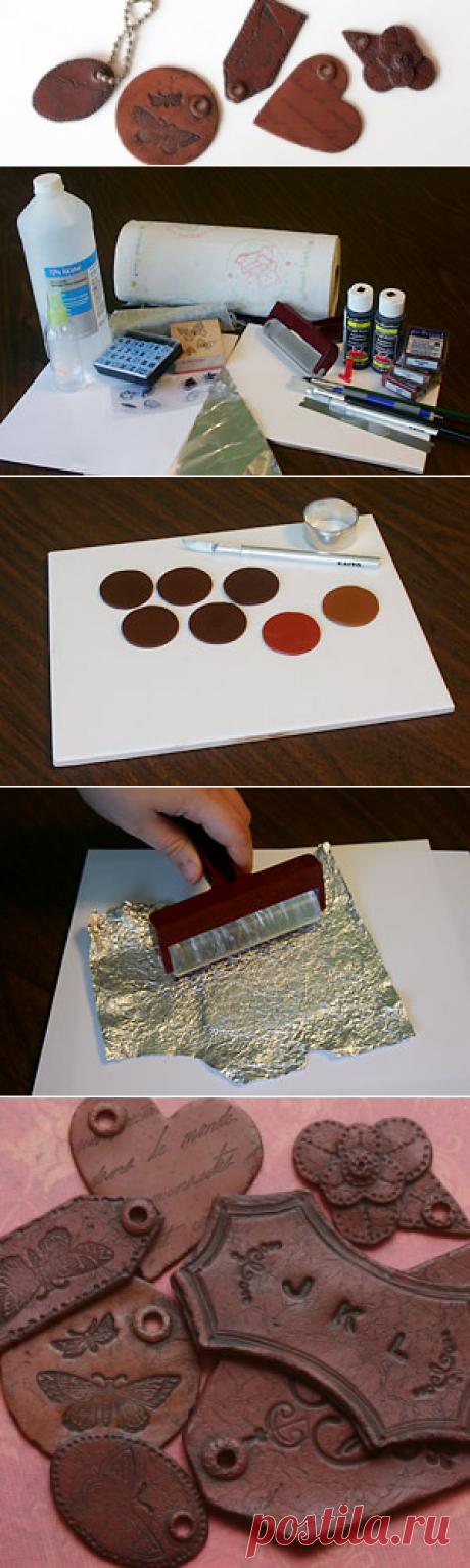 Имитируем кожаные поделки с помощью глины — Своими руками