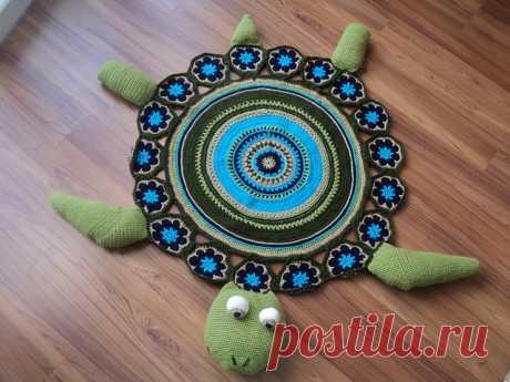 Забавные черепашки-коврики, связанные крючком — Делаем руками