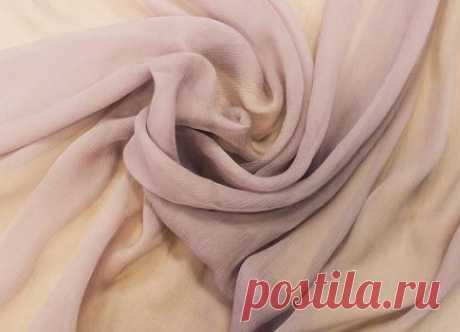 Крэш-шифон шелковый (лиловый) - купить ткань онлайн через интернет-магазин ВСЕ ТКАНИ