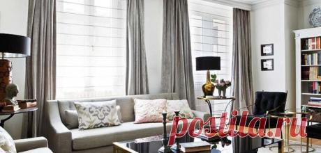 Серебряные шторы в интерьере: фото-идеи, сочетание с цветом обоев