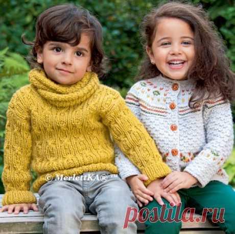 Вязание спицами на осень - ПУЛОВЕР И ХОМУТ для мальчика