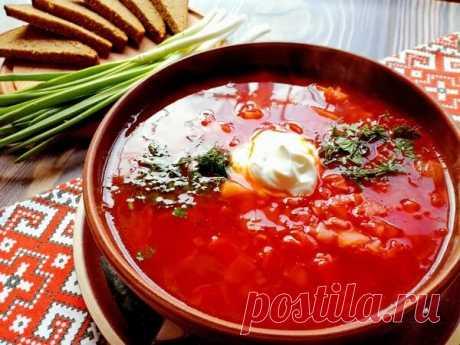 Украинский борщ без мяса с фасолью | Мама Люба | Яндекс Дзен